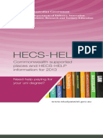 CSS and HECS-HELP Information for 2013