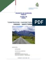 Perfil de Carretera Vecinal Paraiso Santo Toribio