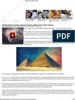 Secrets of Pyramids, Pyramid power