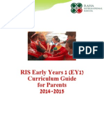 Raha International School, EY1 Curriculum Guide for Parents 2014 - 2015