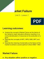 unit 5 market failure lesson 1