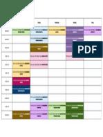Printable Time Table