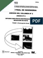 Anexos Del Volumen No. 2 Anexo No. 6 Estudio Geotecnico Para La Seleccion de Ruta