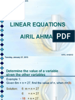 11 Linear Equations
