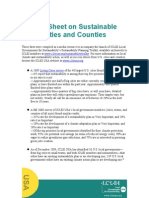 ICLEI Fact Sheet Sustainable Cities