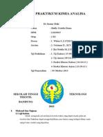 Laporan Praktikum Kimia Analisa