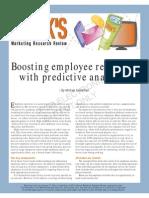 Boosting Employee Retention With Predictive Analytics
