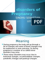 Minor Disorders of Pregnancy for 3rd Bsc 2014