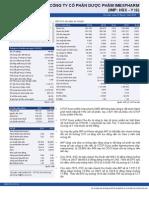 Report Báo Cáo Công Ty 20150115 Công Ty Cổ Phần Dược Phẩm Imexpharm Imp