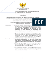 Regulation of the Minister of Manpower and Transmigration No 16 2011