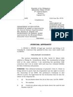 Judicial Affidavit - Onate