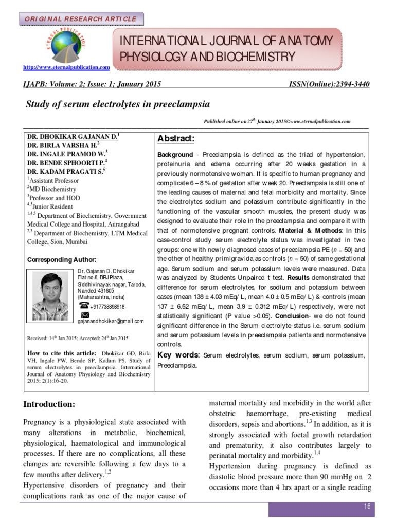 Vol 2 Iss 1 Page 16-20 Study of Serum Electrolytes in