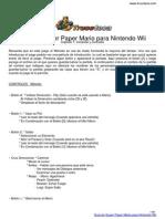 Guia Trucoteca Super Paper Mario Nintendo Wii