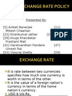 Indian Exchange Rate Policy