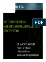 BIOTECH INVENTIONS - Essential of Drafting a Patent Specification