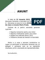 Anunt Ag 2015