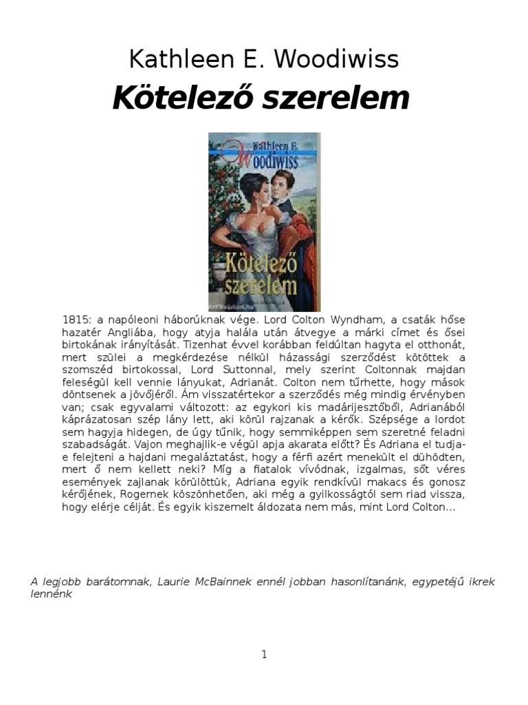 Kew Kotelezo Szerelem 36816f8e02