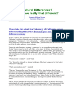 Cultural Differences perbedaan kelompok