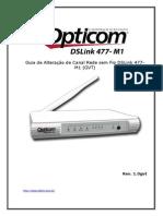 Guia de Alteracao Canal WiFi DSLink477-M1 Rev1 0gvt