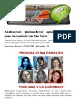 Adolescente Queimadense Aguarda Coração Para Transplante Em São Paulo