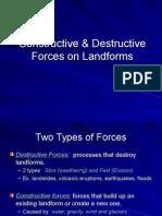 constructivedestructivelandformsppt tc