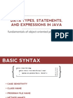 2 - Data Types, Statements, And Expressions in Java FS 2014-2015
