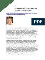 Adios Argentina Las Directrices Del Sionismo en Seguridad Nacional