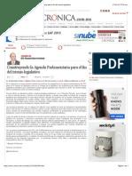 La Crónica de Hoy | Construyendo la Agenda Parlamentaria para el fin del trienio legislativo