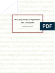 Literature review on change management