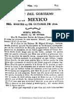 Gazeta Del Gobierno de México. 23-10-1810 CURA HIDALGO