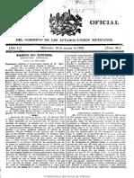 Gazeta Del Gobierno de México. 10-3-1830