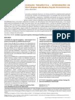 Atividades de Ocupação Terapêutica-Intervenções de Enfermagem Estruturadas Em Reabilitação Psicossocial