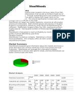 Marketing Plan of SteelWoods(Unreal)