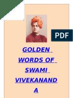 GOLDEN WORDS- Swami Vivekanand