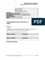 Assigning Shift Information for the Resource_SPD