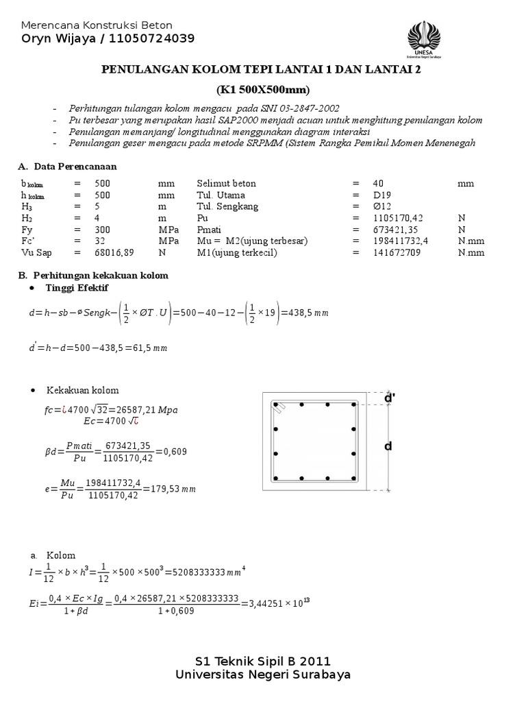 Perhitungan kolom ccuart Images