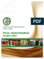 saes parent-student handbook sy 14-15