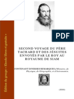 Tachard Second Voyage Au Royaume de Siam 1712