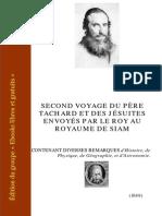 Tachard Second Voyage Au Royaume de Siam 1712