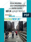 Local Walking Advocacy Organization 2014 Survey Report