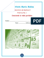 Practica 1 Química tabla periódica