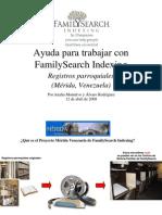 El proyecto FSI-Registros parroquiales Merida-Venezuela-pdf