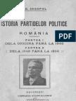 A.D. Xenopol. Istoria partidelor politice în România