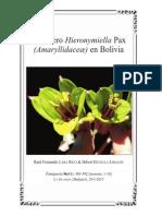 El género Hieronymiella Pax (Amaryllidaceæ) en Bolivia