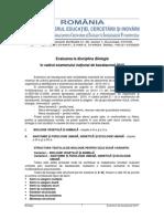 E d) (i) Biologie Bac 2010 Model