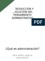 Evolución pensamiento administrativo
