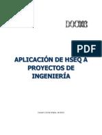 Aplicación de Hseq a Proyectos de Ingeniería