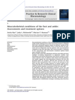 Musculoskeletal Conditions of the Foot and Ankle Assessments and Treatment Options