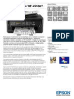 Epson WorkForce WF 2540WF Ficha Técnica