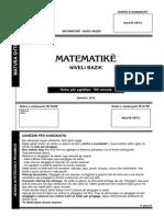 Matematika 2010 Qershor Shqip